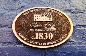 Seton Hill historic plaque